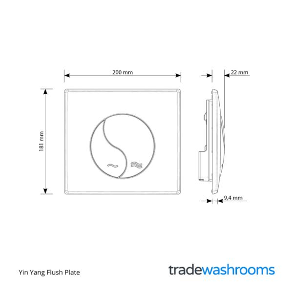 31185316 - Yin Yang Flush Plate