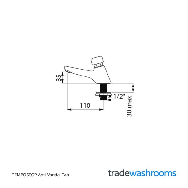 745301 - TEMPOSTOP Anti-Vandal Tap