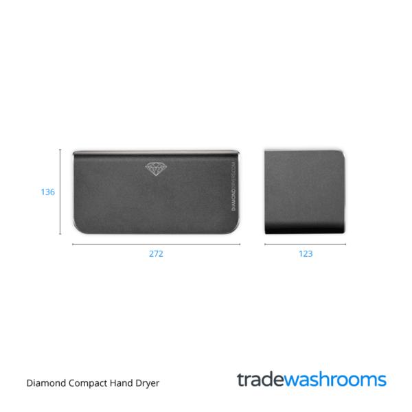 HD-D380 Diamond Dryer Dimensions