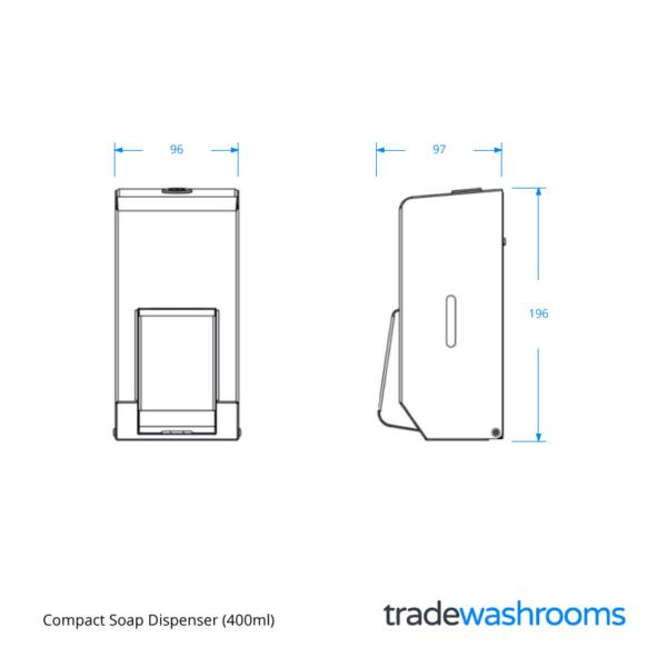 PL10MBS - Compact Soap Dispenser
