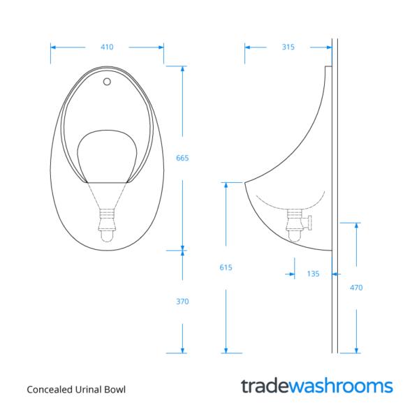 URBOW - Concealed Urinal Bowl