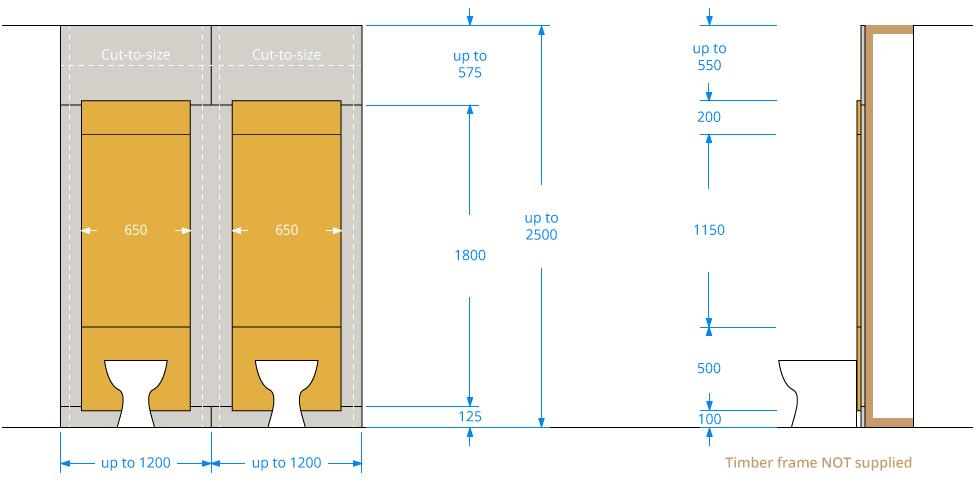 Children's Toilet IPS Panel Dimensions