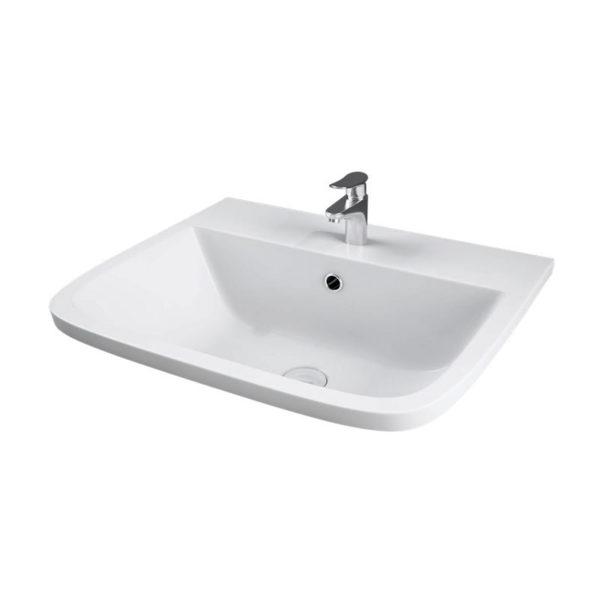 Square Profile Inset Washbasin - Series 600