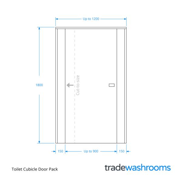 Toilet Cubicle Door Dimensions