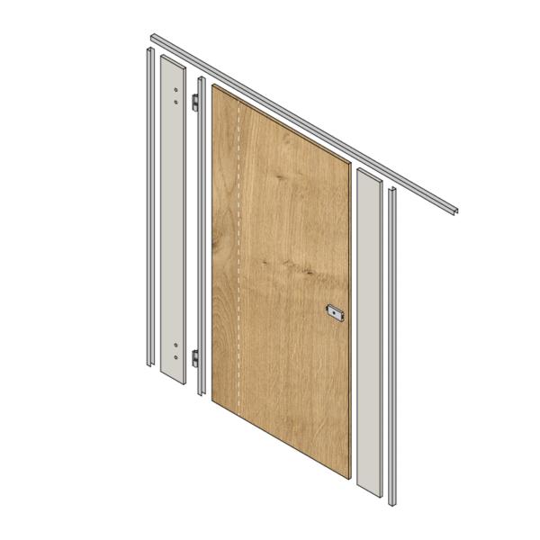 Toilet Cubicle Door Pack - Oak