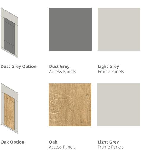 Toilet IPS Panel Colours - Dust Grey or Oak