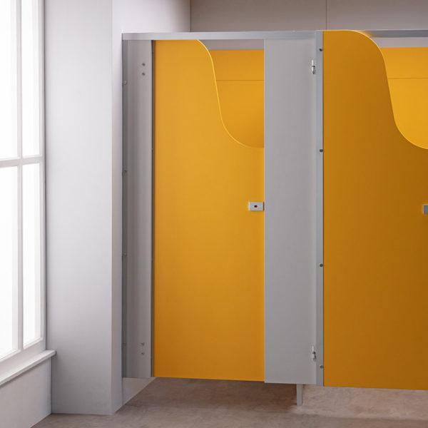 Yellow Children's Toilet Cubicle Door Pack